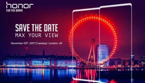 Honor to launch another smartphone with bezel-less design on December 5