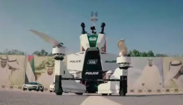The Dubai Police now has an actual hoverbike in its fleet