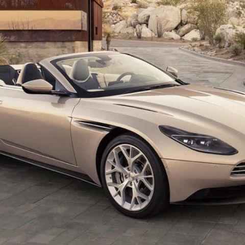 The Aston Martin DB11 Volante convertible has a 'light' V8 engine producing 510hp!