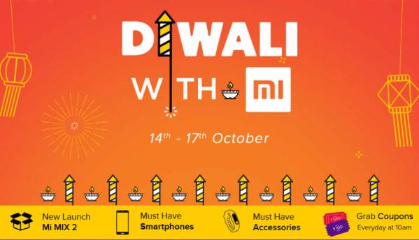 Xiaomi Diwali With Mi Sale: Discounts on Redmi Note 4, Redmi 4, Mi Max 2 and more