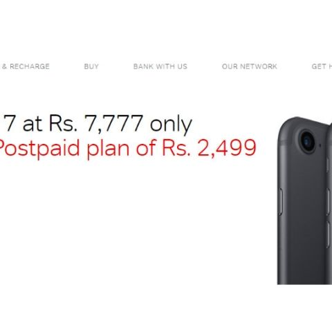 Airtel lists iPhone 7 with Rs 7,777 down payment, 24 monthly recharges of Rs 2,499; will offer 30GB data per month, unlimited calling