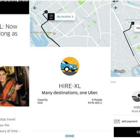 Uber launches UberHIRE XL service in Delhi, offers booking of long distance trips with flexible fares