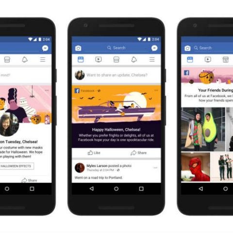 Facebook releases Halloween themed camera effects, posts and mini-game