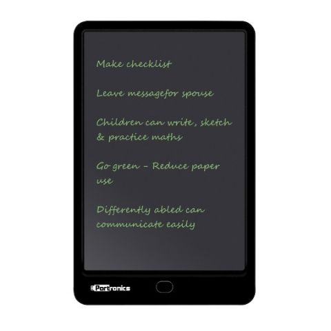 Portronics RuffPad 10 with 10-inch Re-Writable LCD Pad launched at Rs 1,999