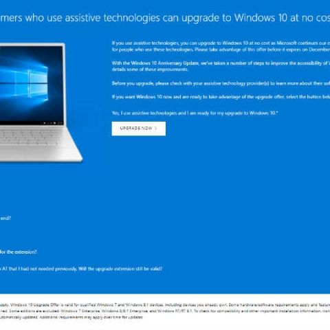 Microsoft will end Windows 10 free upgrades by December 31, 2017