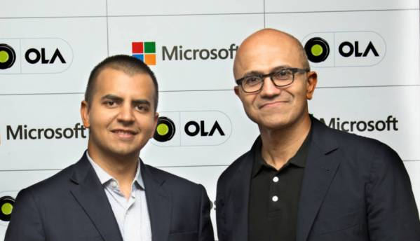 Ola announces new connected car platform in partnership with Microsoft