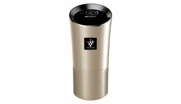 Sharp launches portable in-car air purifier that fits into cup holders