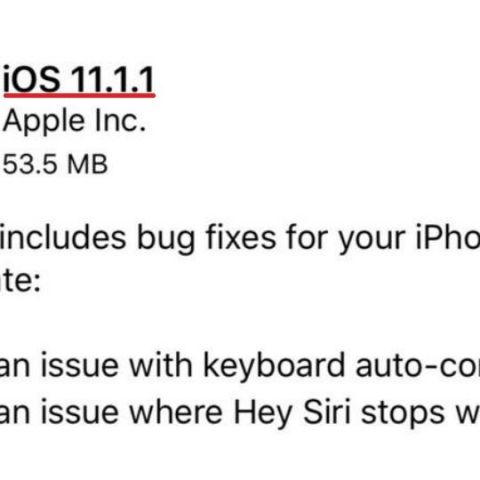 "Apple rolls out iOS 11.1.1 update fixing autocorrect bug, ""Hey Siri"" issues"