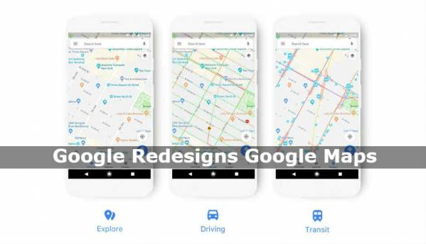 Google Maps updated with new icons, colour scheme