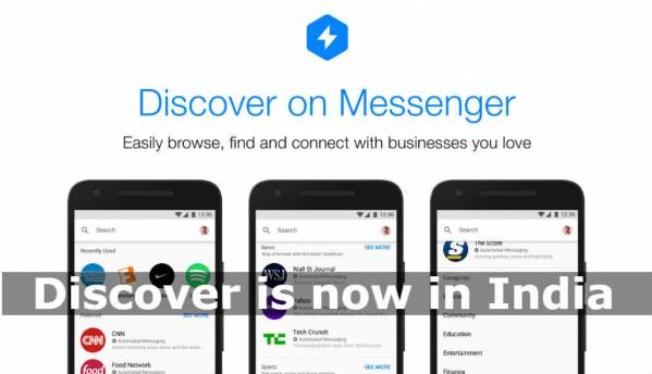 Facebook Messenger rolls out 'Discover' tab in India