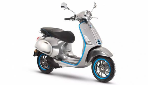 """Vespa Elettrica all-electric scooter to come with 4.3"""" connected system, 100km range"""