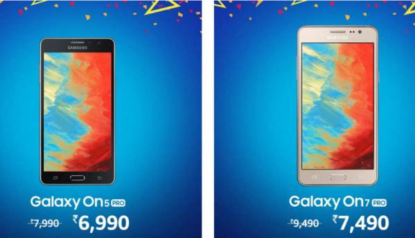 Amazon-Samsung Happy Hours sale: Samsung Galaxy On5 Pro, Galaxy On7 Pro available at discounted prices