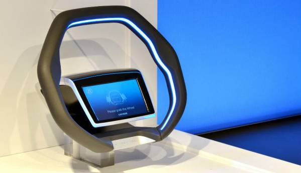 ZF's futuristic steering wheel comes with a gesture-enabled 7-inch touchscreen