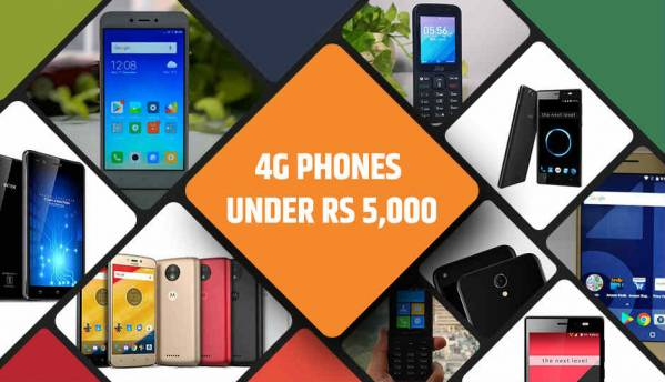 Best 4G phones under Rs 5,000