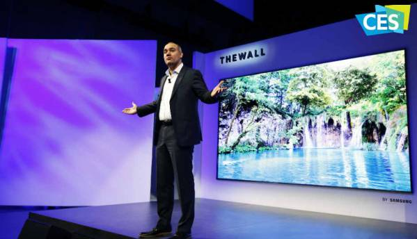 Samsung unveils 85-inch AI-powered 8K TV and mammoth 146-inch 4K modular MicroLED TV called 'The Wall' at CES 2018
