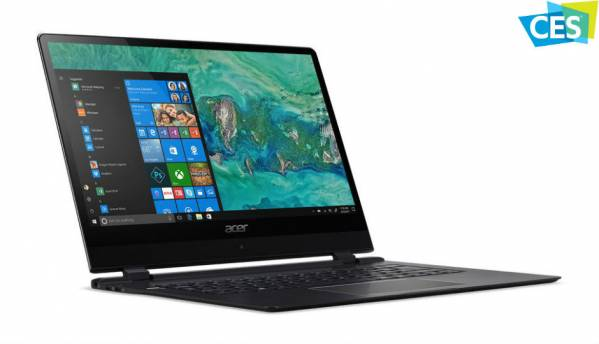 Acer unveils Swift 7, the 'world's thinnest laptop' at CES 2018