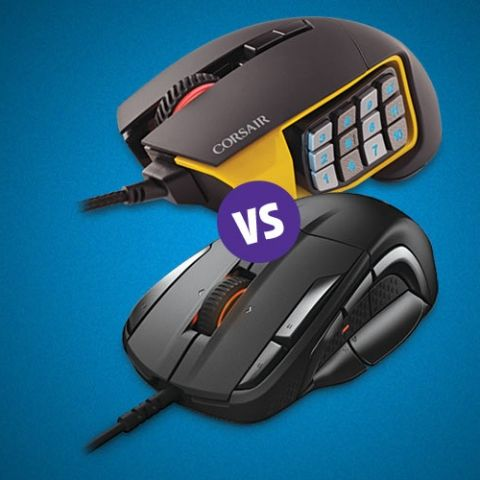 Comparison: Corsair Scimitar Pro RGB vs  SteelSeries Rival