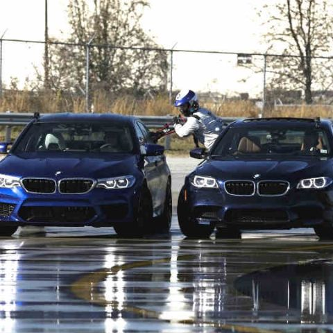 BMW accomplishes fighter jet-like refuelling mid-drift
