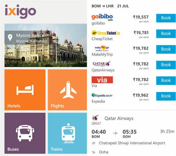 Ixigo launches travel app for Windows Phone