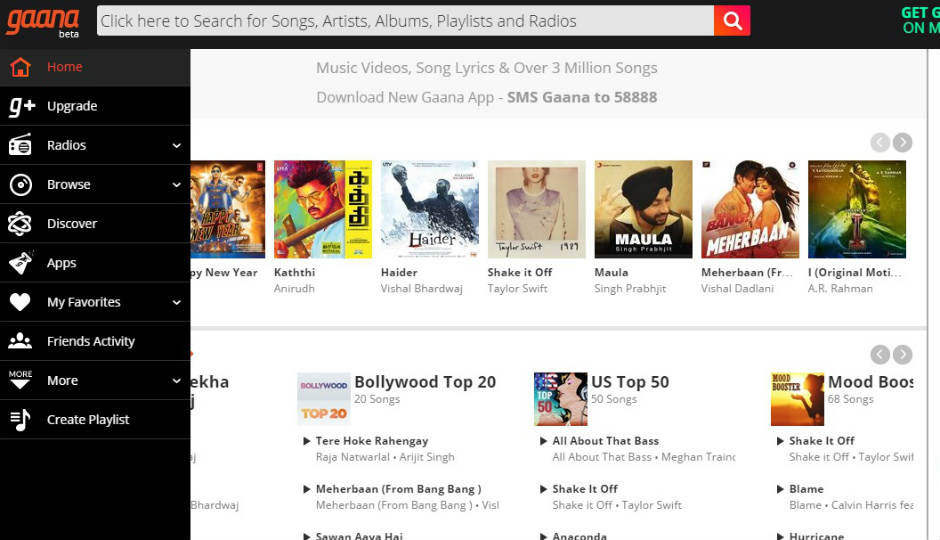 you can access gaana on your desktop through the browser or on your android ios blackberry or windows phones by downloading the app