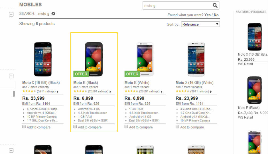 big sale 1af86 d0764 Flipkart removes Moto G from listings, paves way for Moto G2