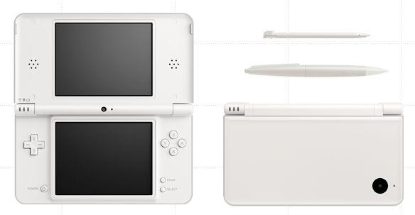 Nintendo DSi LL in Natural White