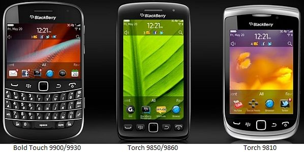 RIM launches three BlackBerry 7 OS-based smartphones: Bold