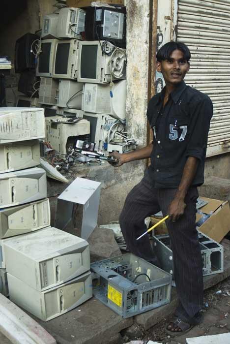 E-waste processing in Mumbai
