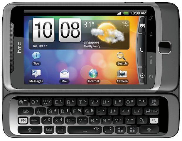 HTC Desire Z QWERTY open