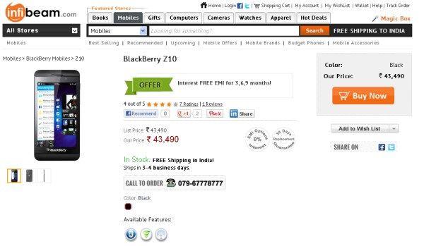 Z10 deals cell c