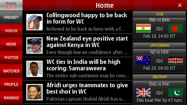 ICC Cricket World Cup 2011: Best 3 apps for Symbian^3 (and some