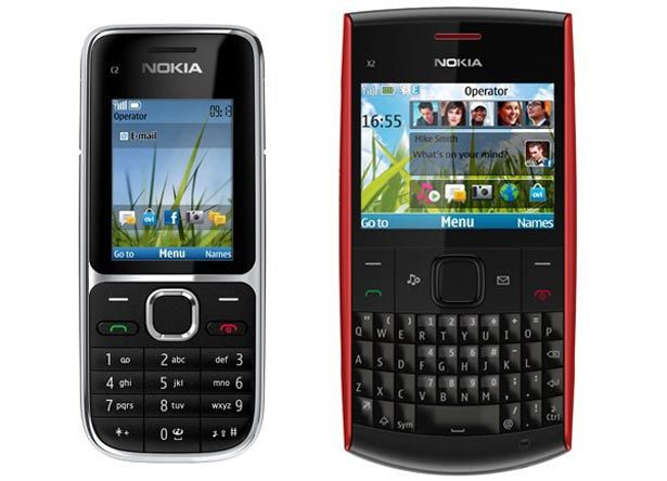 Nokia C2-01 and X2-01