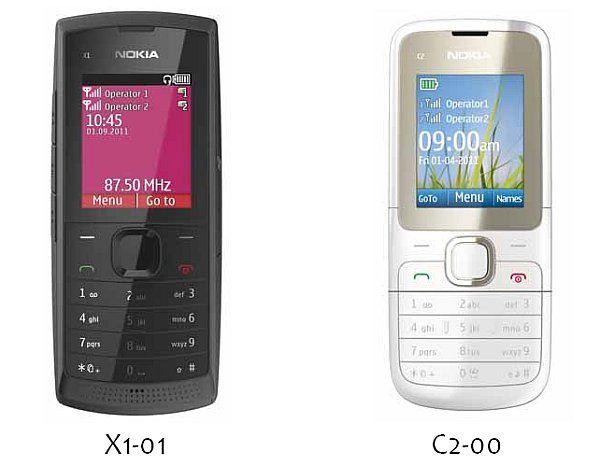 nokia dual sim phones. and in addition, bears a vga camera, gprs connectivity, nokia messaging app, hot swap sim slot, up to 32gb storage via microsd, fm recording. dual sim phones