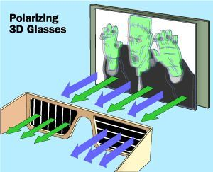 How polarized 3D glasses work