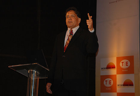 Sridhar Iyengar, president of TiE, gave the keynote address