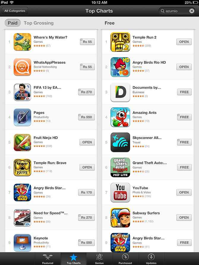 Temple Run 2 becomes number one free app on Apple iTunes App