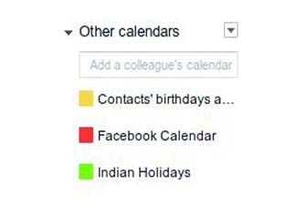After importing the calendar