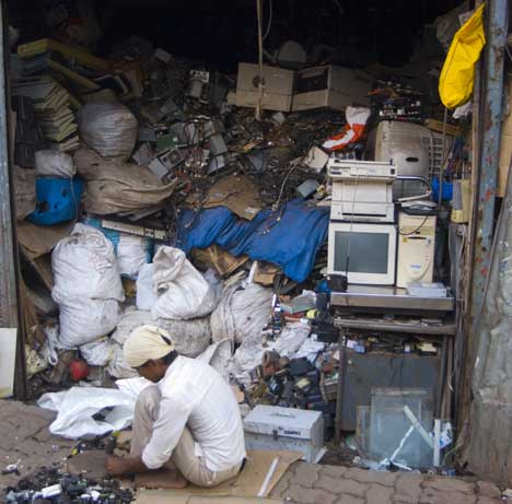 E-waste processing in Mumbai