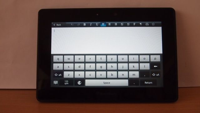 how to go to home screen blackberry playbook
