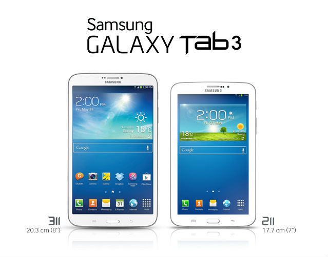 Samsung launches three new Galaxy Tab 3 Android tablets in ...