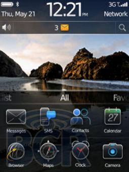 Home Screen BlackBerry OS 6.0