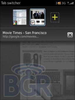 Webkit Browser on BlackBerry OS 6.0