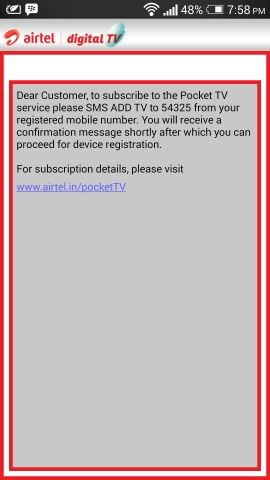 Airtel Pocket TV app Review