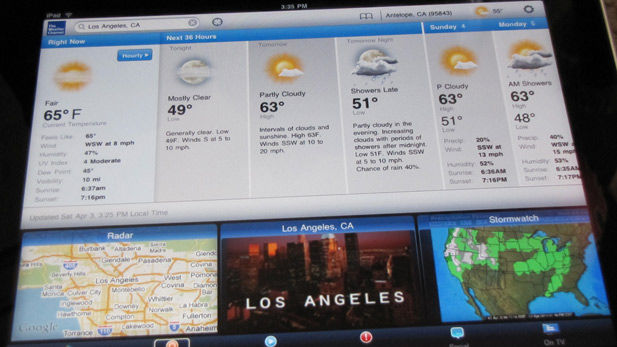 The Apple iPad even makes the weather look interesting