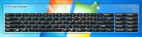 Windows 7 On-Screen Keyboard