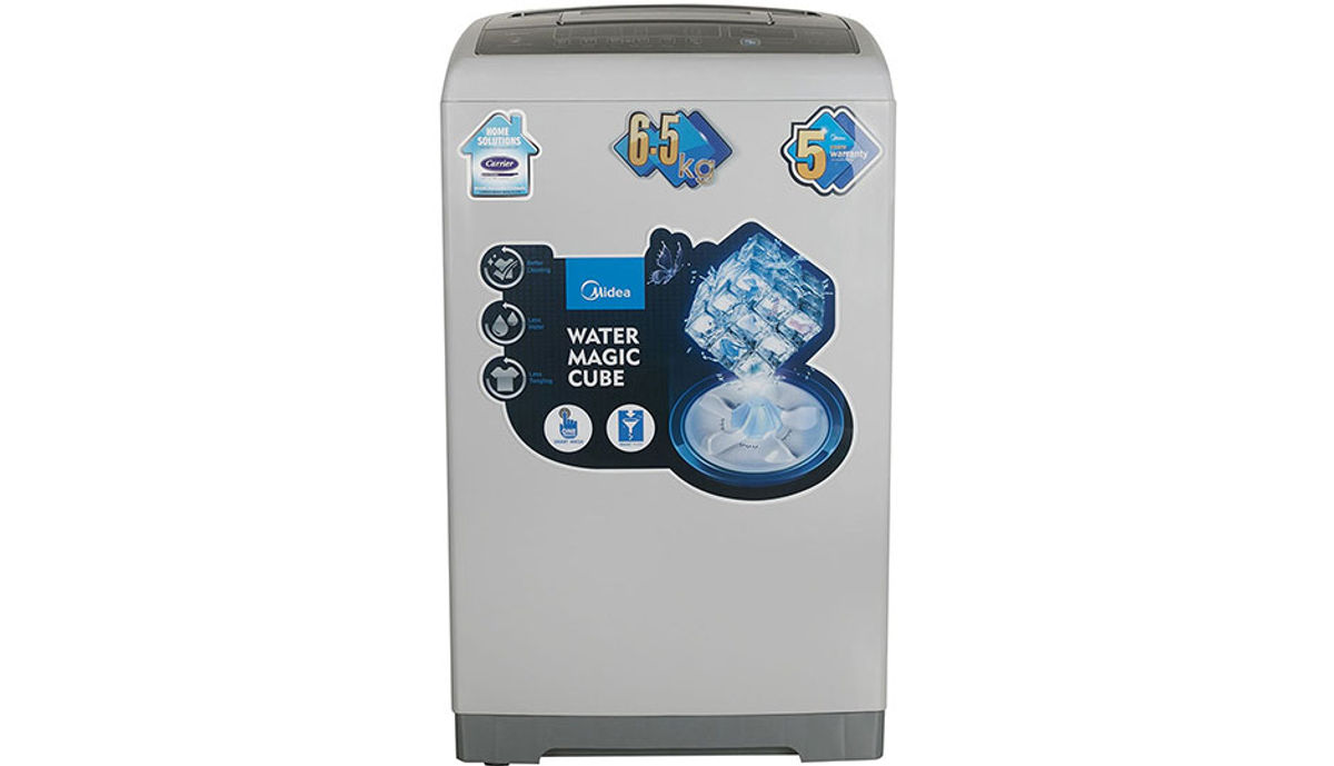 Midea 6.5  Fully-Automatic महत्त्वाचे Loading Washing Machine (MWMTL065MWO, Grey)