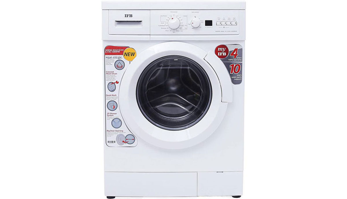 आयएफबी 6.5  Fully Automatic Front Load Washing Machine White (Serena Aqua VX)