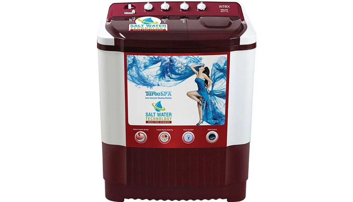 इंटेक्स 7.6  Semi Automatic महत्त्वाचे Load Washing Machine (WMS76FT)