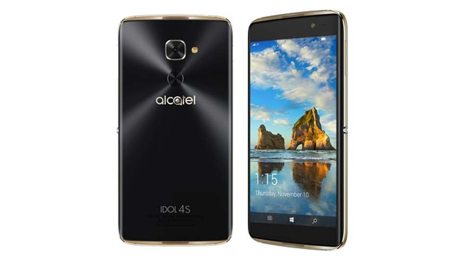 alcatel idol 4s windows 10 price in india specification features. Black Bedroom Furniture Sets. Home Design Ideas