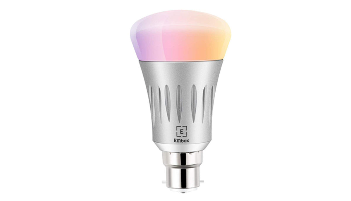 EMbox WiFi Smart LED Bulb, Voice Control with अमेज़न Alexa & गूगल होम Assistant, 7W, Silver Base Colour, White and Other Colours (16 लाख Colours)